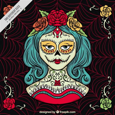day of the dead background creepy background for day of the dead vector free