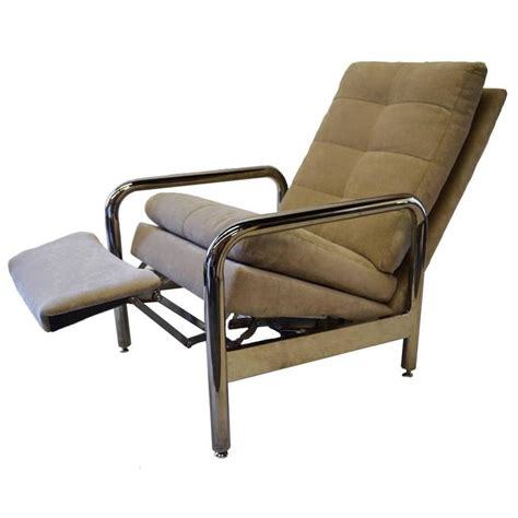 thayer coggin recliner chrome recliner by milo baughman for thayer coggin for