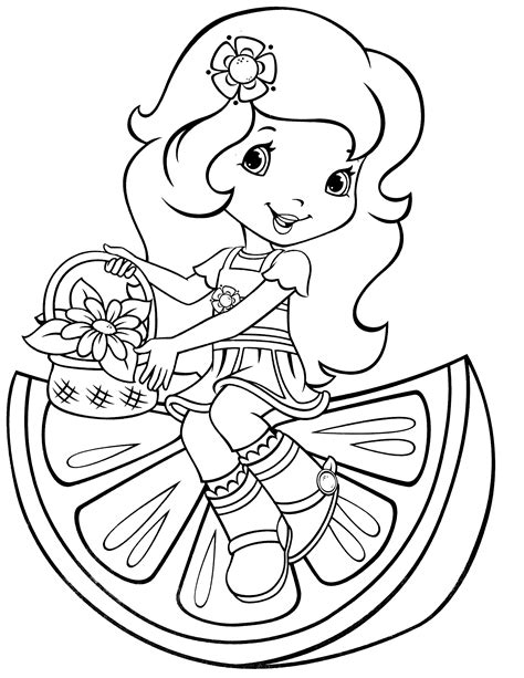 orange blossom strawberry shortcake coloring pages www