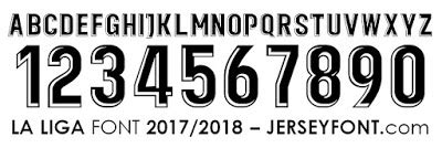 Custom Font Nameset La Liga Atletico Madrid 2017 2018 posted by antar oktavianto on sunday november 19 2017