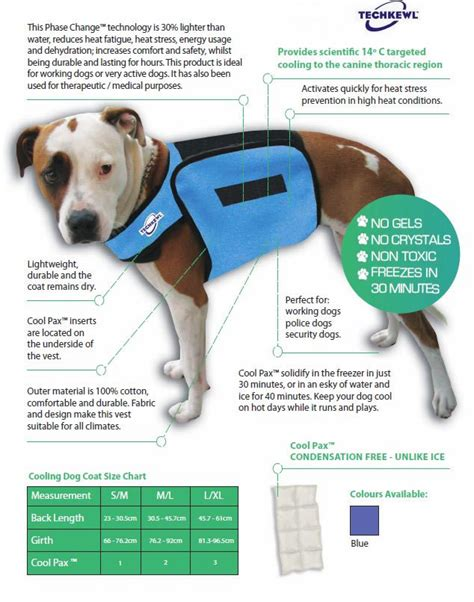 Pet Vest To Save Your Poochs Day by Techkewl Phase Change Cooling Vest Cooling Vest