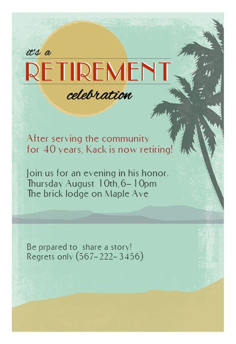 celebrating someones retirement invitation templates make it easy