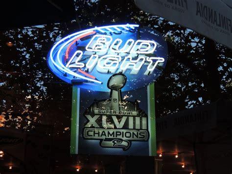 seahawks light up sign neon sign bud light seattle seahawks bowl