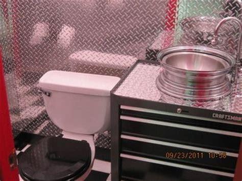 bathroom in garage diamondplate bathroom vanity man cave bathroom manly