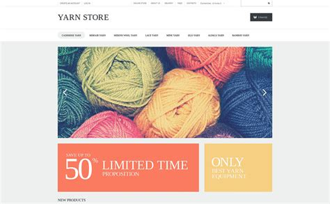 Handiwork Yarn Virtuemart Template 50694 Yarn Shop Business Plan Template