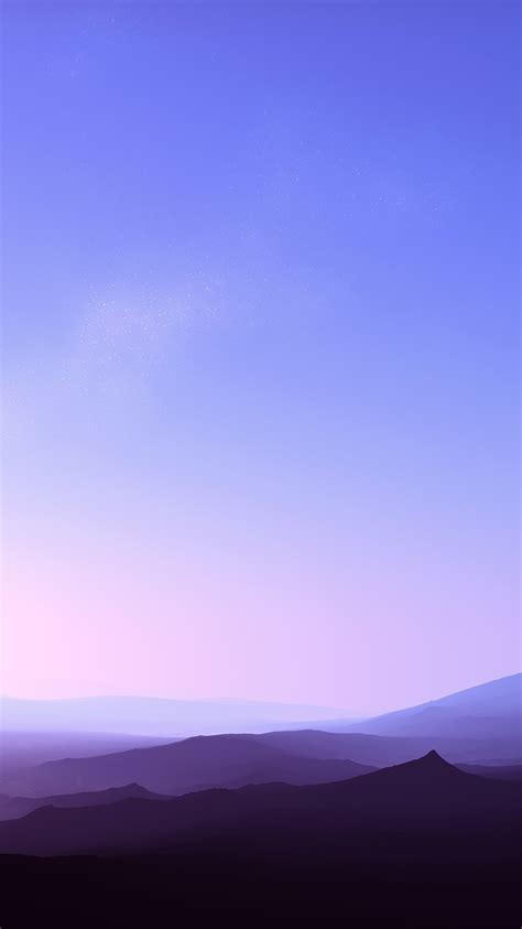 clear sky sunset fog  mountains iphone wallpaper