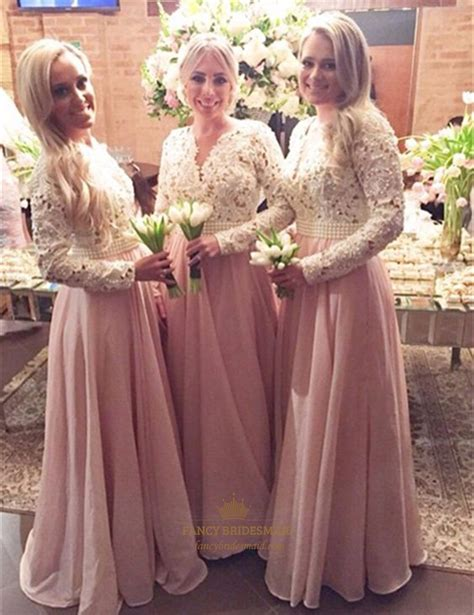Two Tone Sleeve Dress two tone sleeve beaded waist pink chiffon