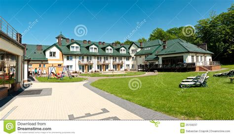 hotel backyard hotel backyard panorama royalty free stock photography