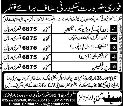 Qatar jobs for pakistani 2015 marriage