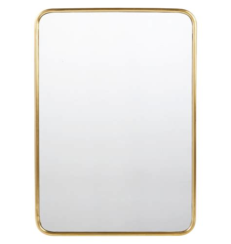 Design House Bath Hardware 30 quot x 42 quot metal framed mirror rounded rectangle