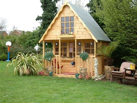 outside playhouse plans small wooden playhouse ideas for the house pinterest