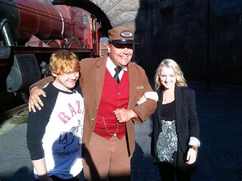 The Harry Potter Press Madness Begins And Evanna Dont Away by Rupert Grint Evanna Lynch Begin Deathly Hallows Part 2