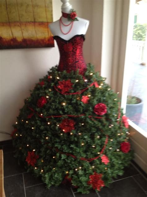 christmas trees made from dress forms 22 how to organize