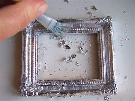 come decorare una cornice di legno decorare una cornice foglia argento cose di casa