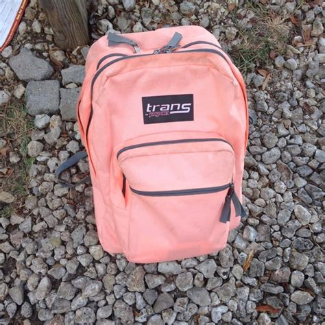 Backpack Jansport Corak 2 25 jansport handbags bright coral trans by jansport backpack from s closet on