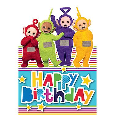 teletubbies cards teletubbies happy birthday card the entertainer the