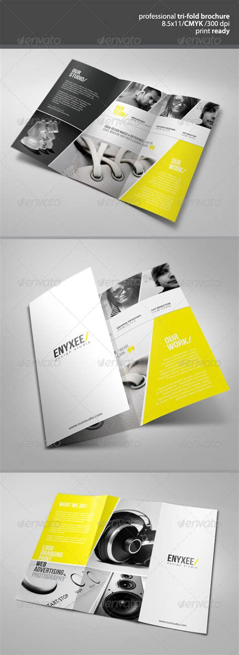 unique tri fold brochure print ad templates