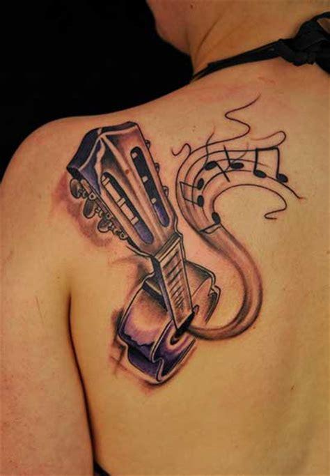 fotos de tatuagens de notas musicais masculinas e femininas