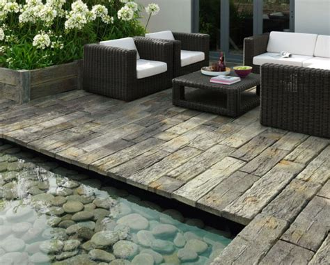 Wood Patio Pavers Anyone Installed Barn Plank Or Timberstone Pavers Yet Lawnsite