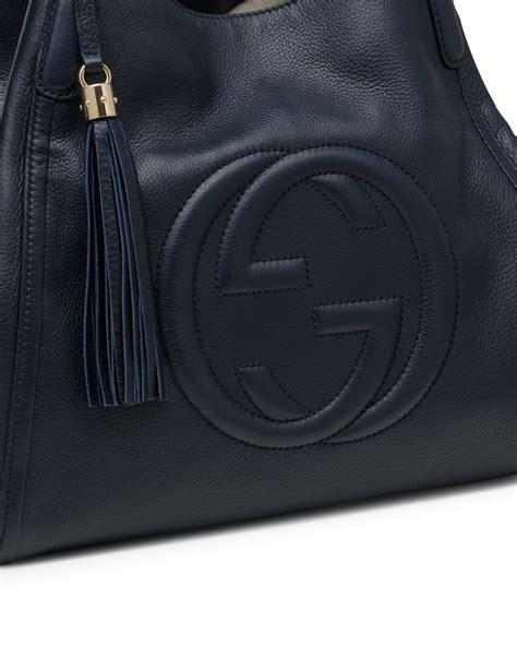 Gucci Soho Leather Backpack Ss17 18 gucci soho leather shoulder bag in blue lyst