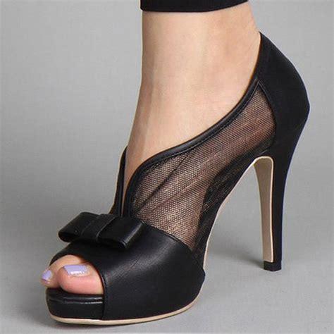 bowknot high heels chic bowknot peep toe high heel shoes sandals 1jc ebay