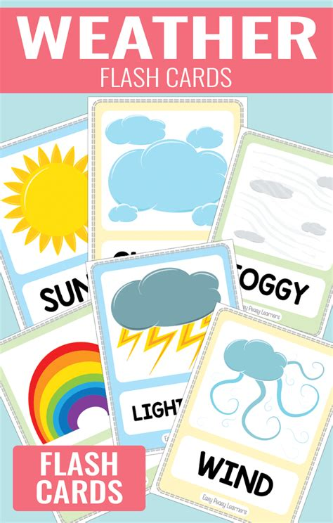 Or For Free Weather Flash Cards Easy Peasy Learners