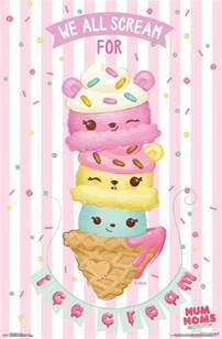 Calendar Wall Sticker num noms ice cream