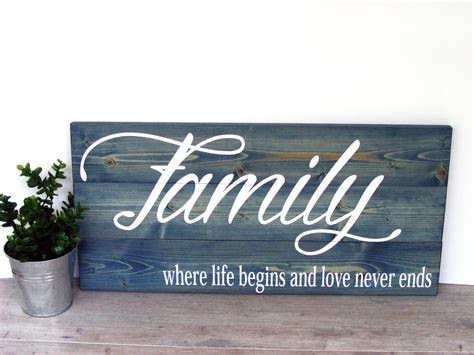 family wood sign home decor wood family sign home wall decor living room wall decor