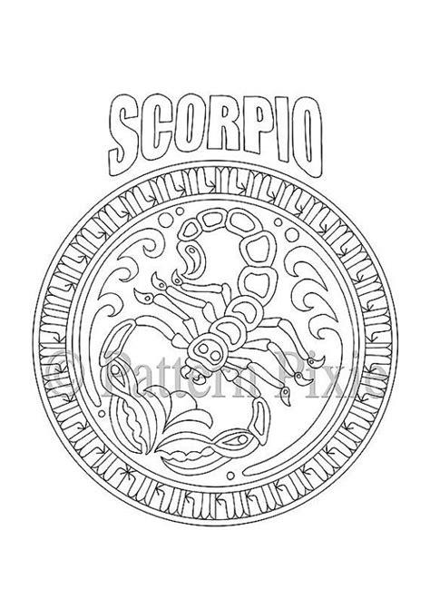 zodiac mandala coloring pages adult coloring page zodiac scorpio zodiac scorpio