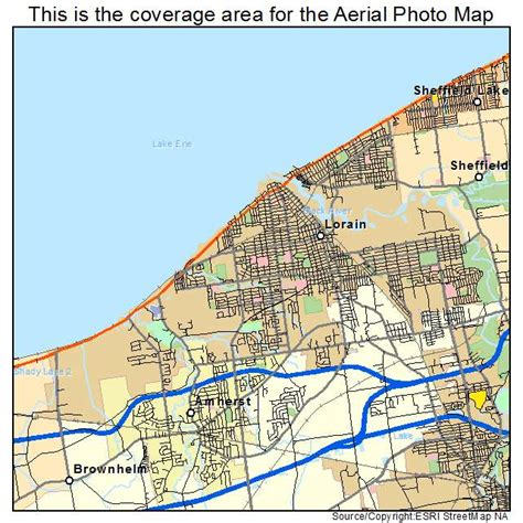 map of lorain ohio aerial photography map of lorain oh ohio