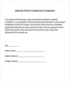 Patient Agreement Letter 8 Patient Confidentiality Agreement Free Sle Exle Format