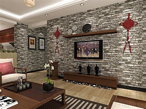 modern green red brick deep embossed wallpaper  brick