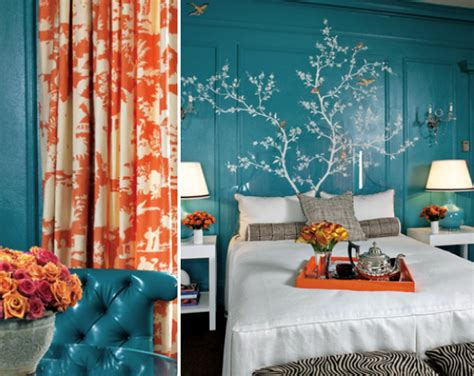 turquoise and coral bedroom suite kate byer interior design