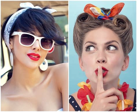 Simple Pin Up Hairstyle by And Simple Bandana Hairstyles For Hair