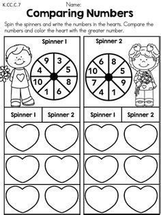 comparing numbers coloring page freebie comparing numbers worksheet color the heart