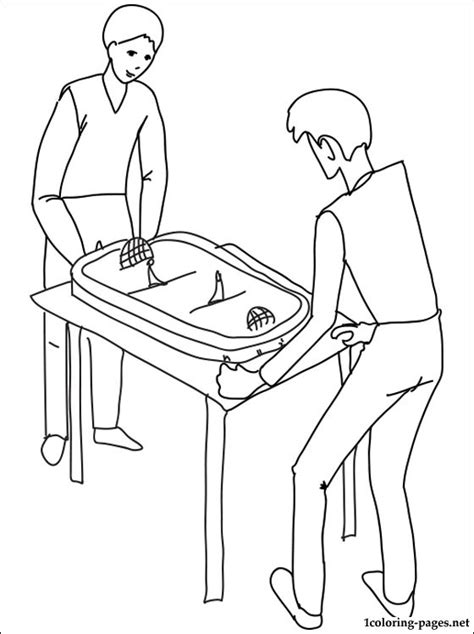 spongebob hockey coloring pages table hockey coloring page coloring pages