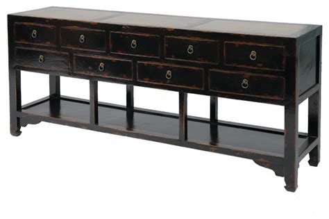 Sideboard 9 Drawer With Marble Asian Buffets And Asian Sideboards And Buffets