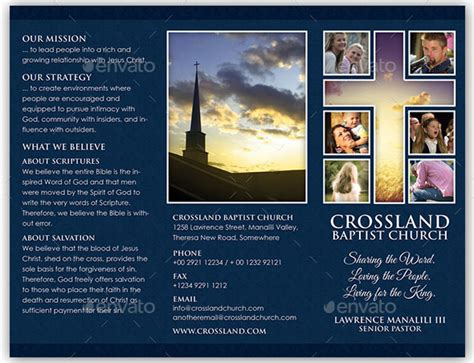 20 church brochure templates psd indesign