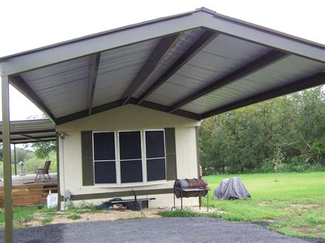 mobile home metal awnings mobile home metal roof awning carport la vernia
