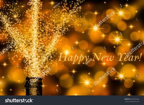 brisk chagne slogan happy new year stock illustration