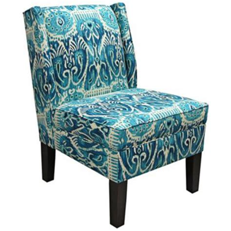 Turquoise Accent Chair Alessandra Teal Wingback Accent Chair Everything Turquoise