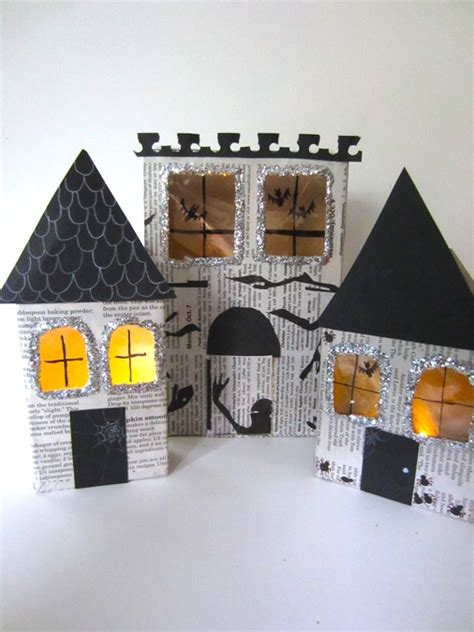 haunted house craft for crafts make haunted houses from recycled