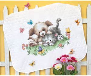 dimensions pet friends baby quilt sted cross stitch