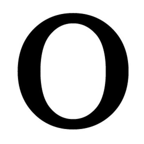 Letter O Small O
