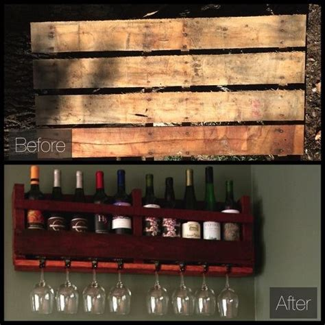 Make A Wine Rack Out Of A Pallet by How To Make A Wine Rack Out Of A Wood Pallet Green Homes