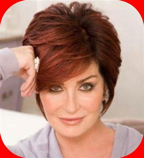 back view of sharob osbournes hair sharon osbourne sharon osbourne red haircuts photo