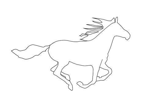 horse outline colour in gif 1397 215 1077 patterns