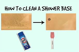 how to clean a fiberglass shower base