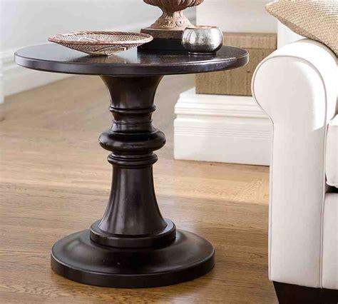 Pedestal Side Table Black Black Round Pedestal End Table Decor Ideasdecor Ideas