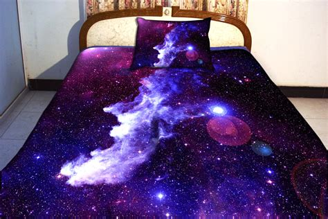 space bed sheets galaxy bedding set two sides printing galaxy twin by tbedding